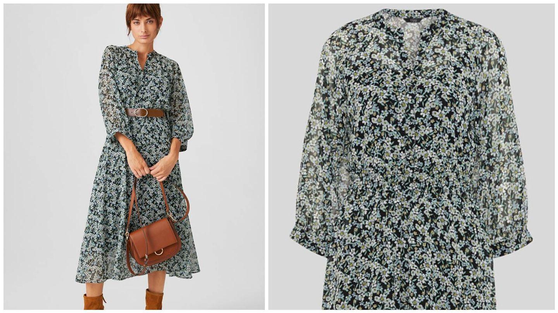 Apuesta por la moda sostenible con este vestido de CyA. (Cortesía)