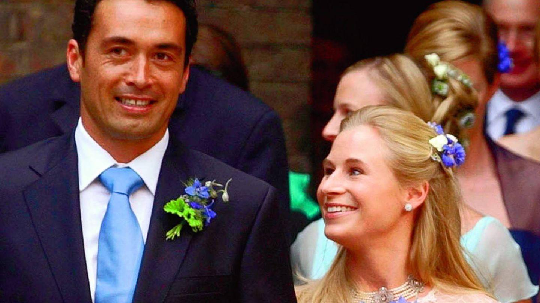 Davina y Gary el día de su boda. (Gtres)