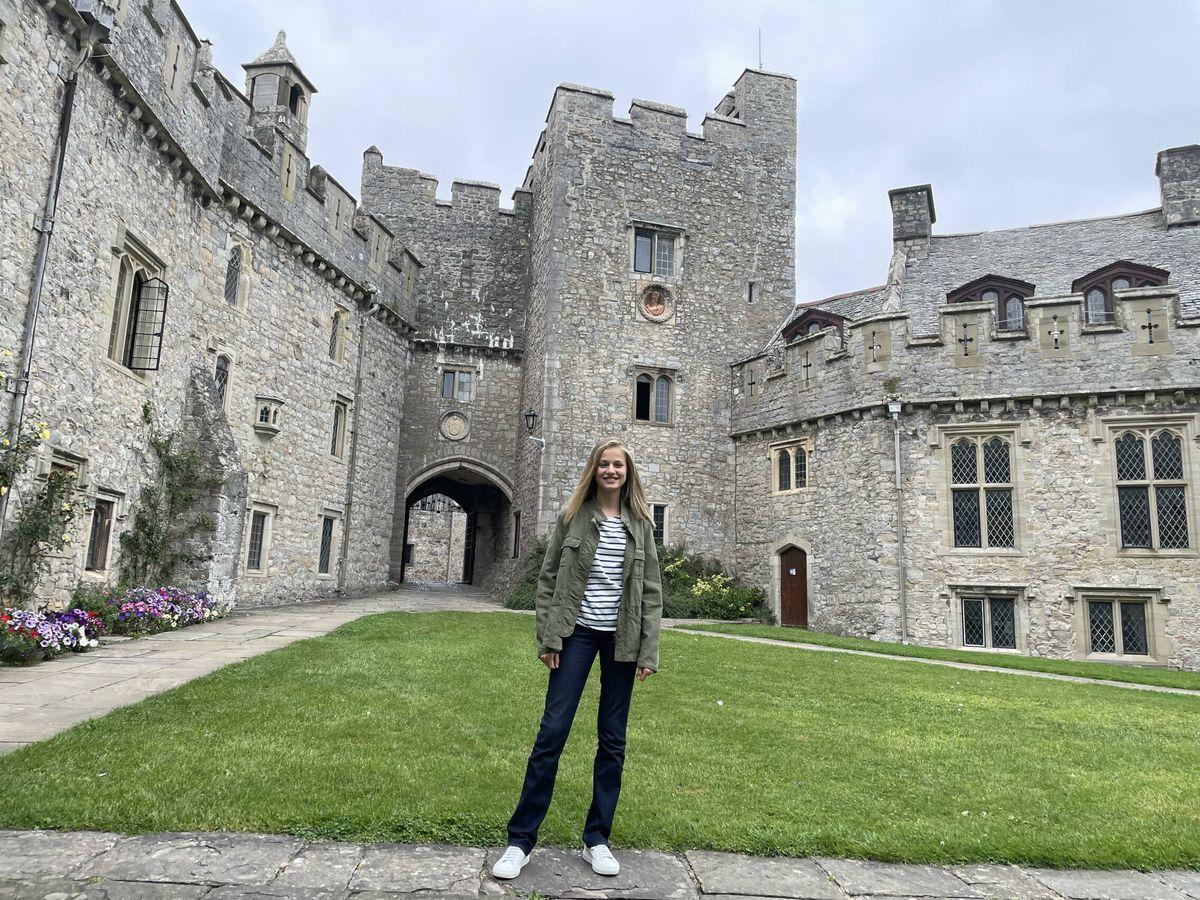 Foto: La Princesa de Asturias, en su internado de Gales. (Casa Real)