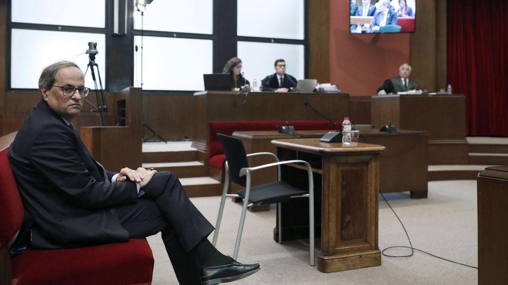 Foto: El presidente de la Generalitat, Quim Torra, en el Tribunal Superior de Justicia de Cataluña. (EFE)