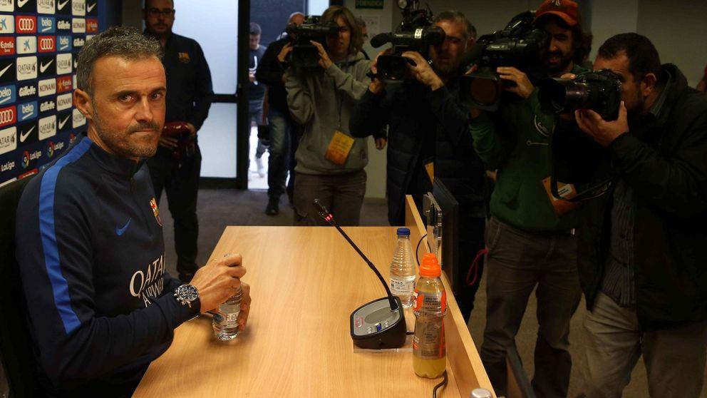 Luis Enrique, el único que no se mete en charcos en el Barça, ignora a Tebas