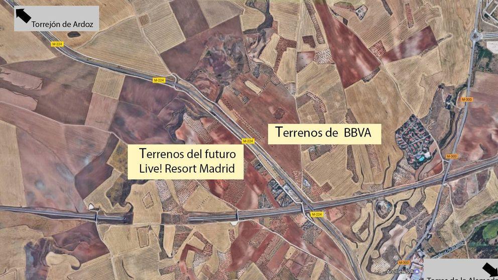 BBVA se frota las manos con la llegada del nuevo Eurovegas a Torres de la Alameda