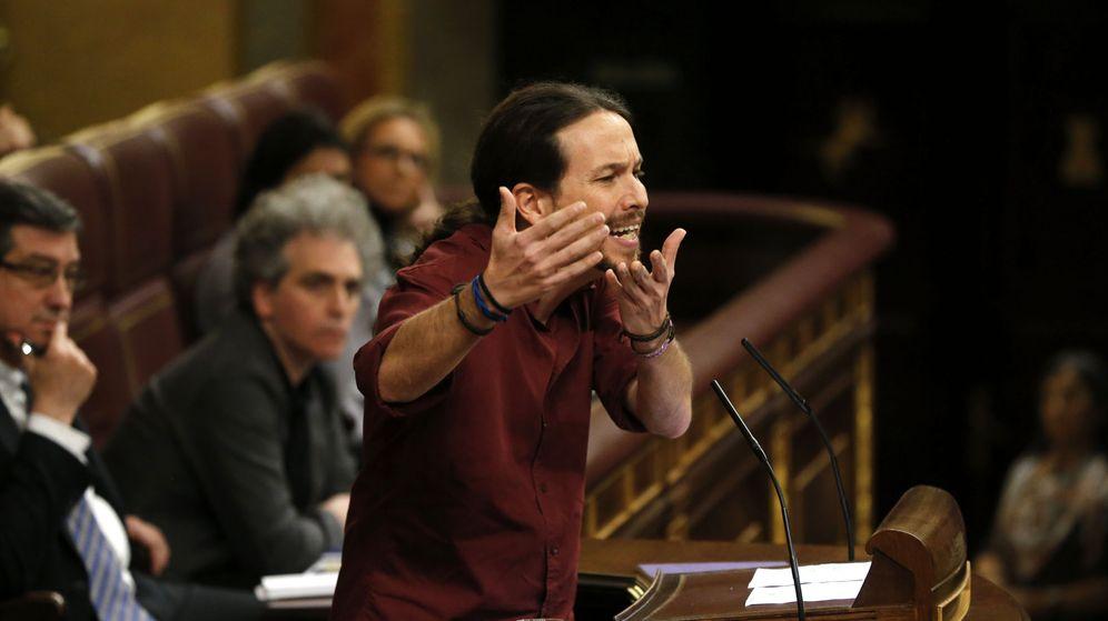 Foto: El líder de Podemos, Pablo Iglesias, durante su intervención previa a la segunda votación de la sesión de investidura. (EFE)