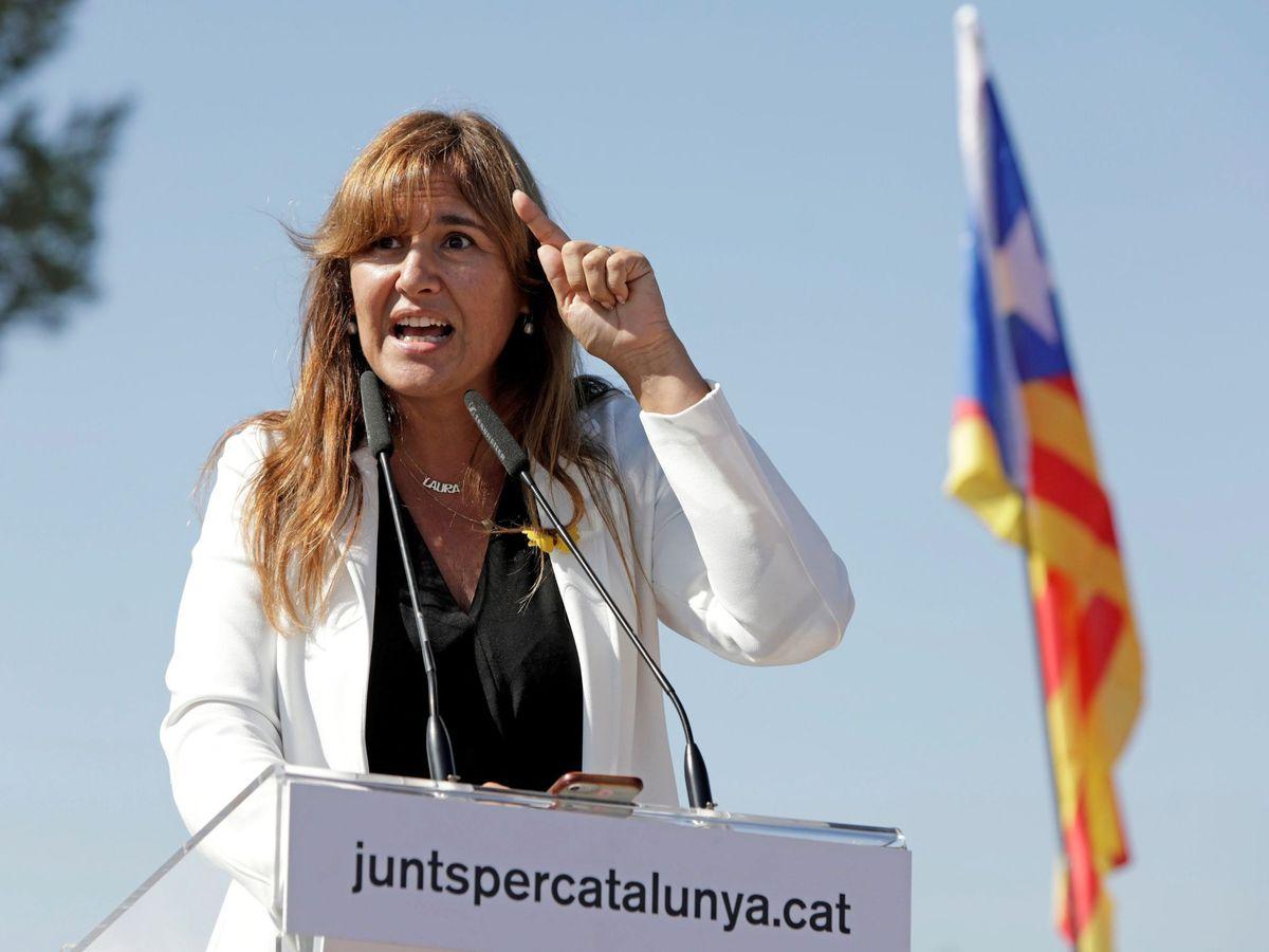 Foto: La portavoz de JxCat en el Congreso, Laura Borràs. (EFE)