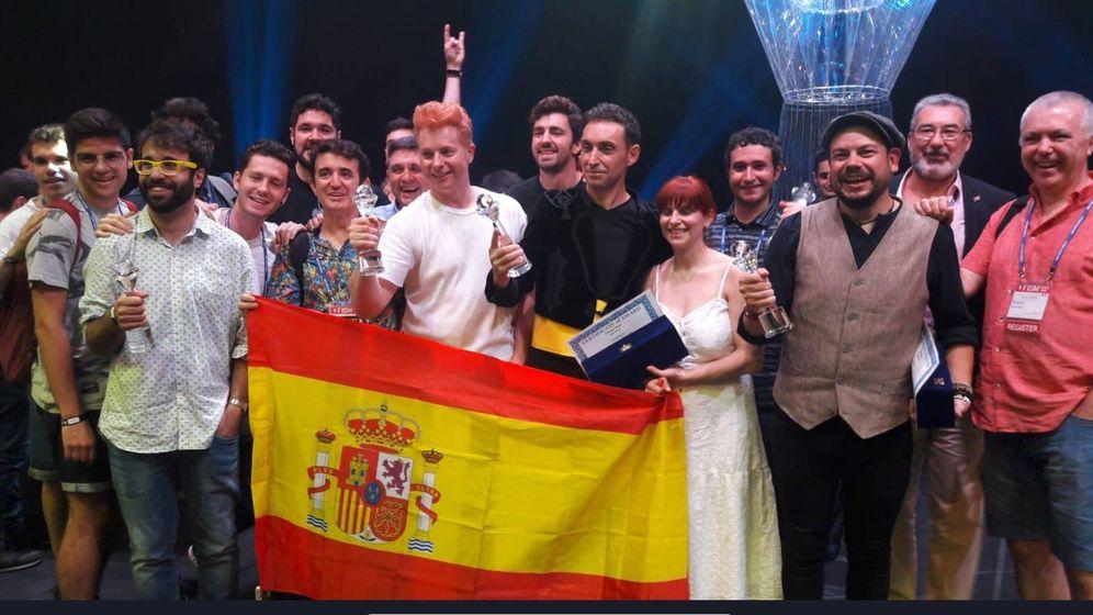 Foto: La 'selección española' de magia en Busan (Corea del Sur).