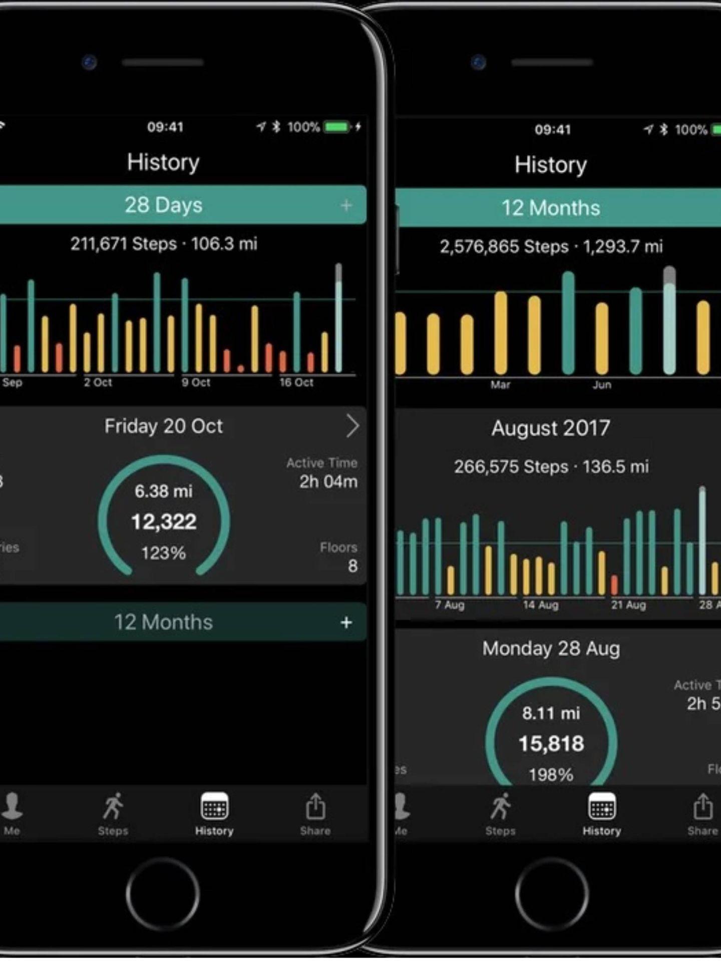Descarga esta app en App Store para controlar tus progresos caminando. (Cortesía)
