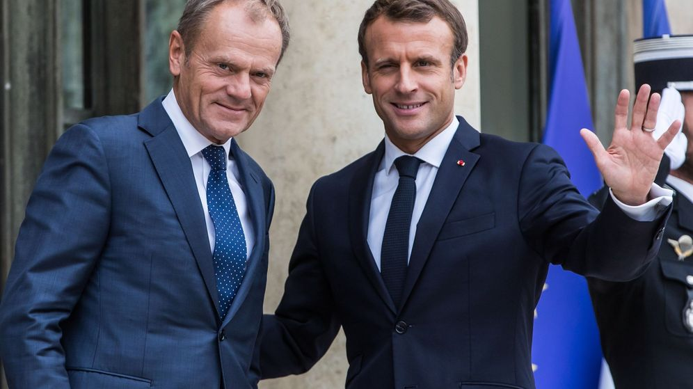 Foto: Emmanuel Macron y Donald Tusk. (Reuters)