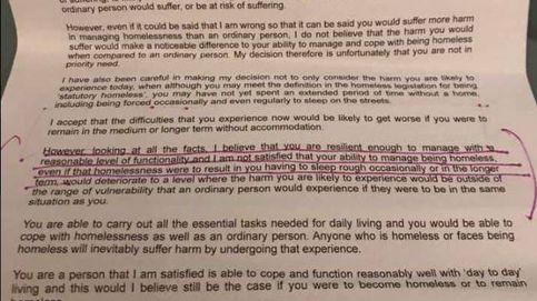 La carta de un político a un indigente que ha desatado la polémica