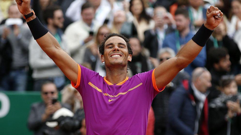 Foto: Rafa Nadal cuando se alzó con la victoria ante Albert Ramos-Viñolas. (EFE)