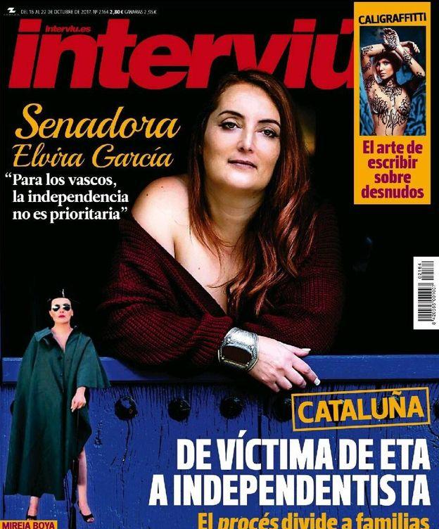 Foto: Elvira García en la portada de 'Interviú'.
