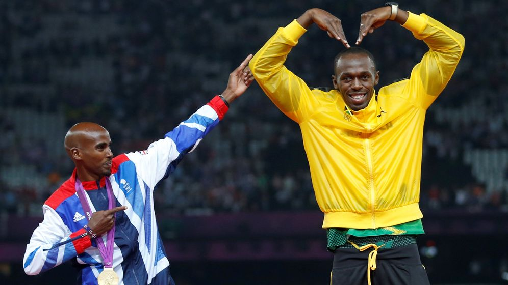 Foto: Mo Farah y Usain Bolt (Reuters)