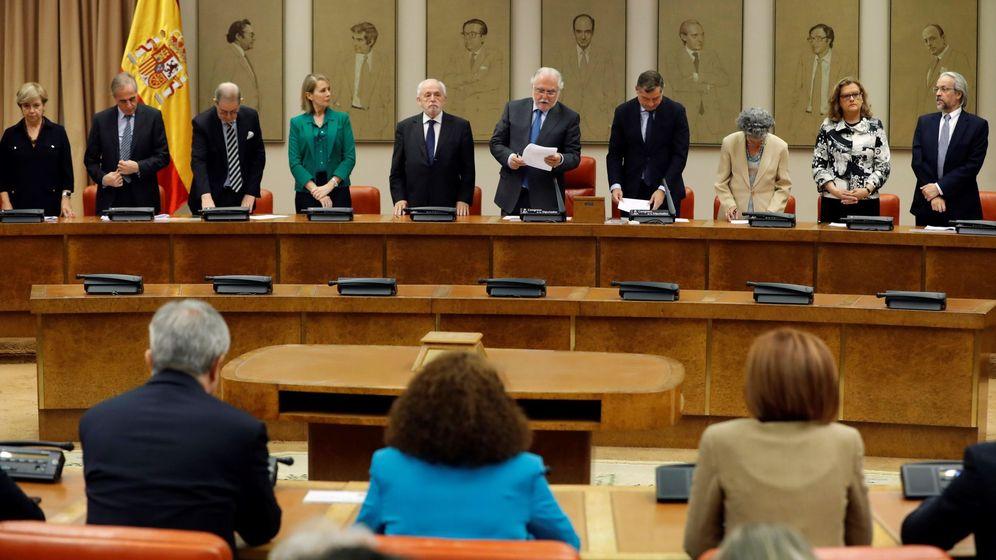 Foto: La Junta Electoral Central vigila el acatamiento de la Constitución de los eurodiputados. (EFE)