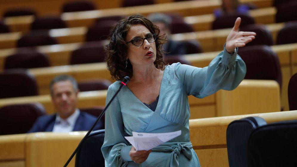 Foto: La ministra de Hacienda, María Jesús Montero, en el Senado. (EFE)