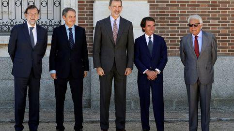 Los exjefes de Gobierno homenajean al Rey por asentar el orden constitucional