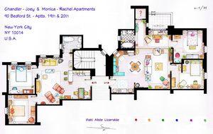 Así son los planos de las casas de las series de televisión