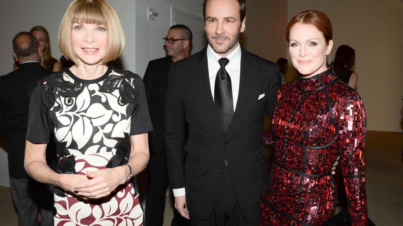 Anna Wintour, Tom Ford y Julianne Moore. (Cordon Press)