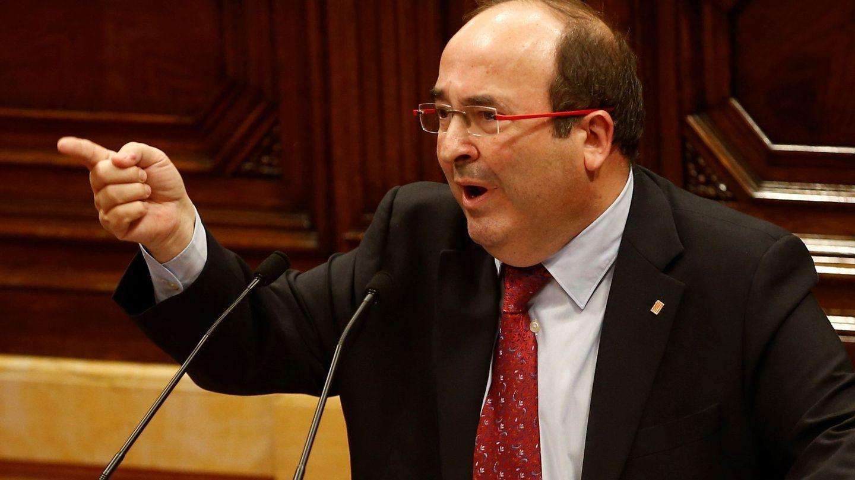 Imagen de archivo de Miquel Iceta, del PSC, en el Parlament catalán. (EFE)