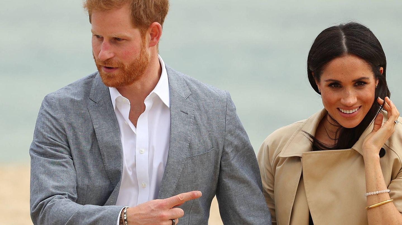 Detalle del anillo de actividad del príncipe Harry. (Getty)