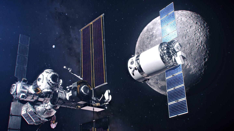 Módulo de reabastecimiento llegando a la Lunar Gateway