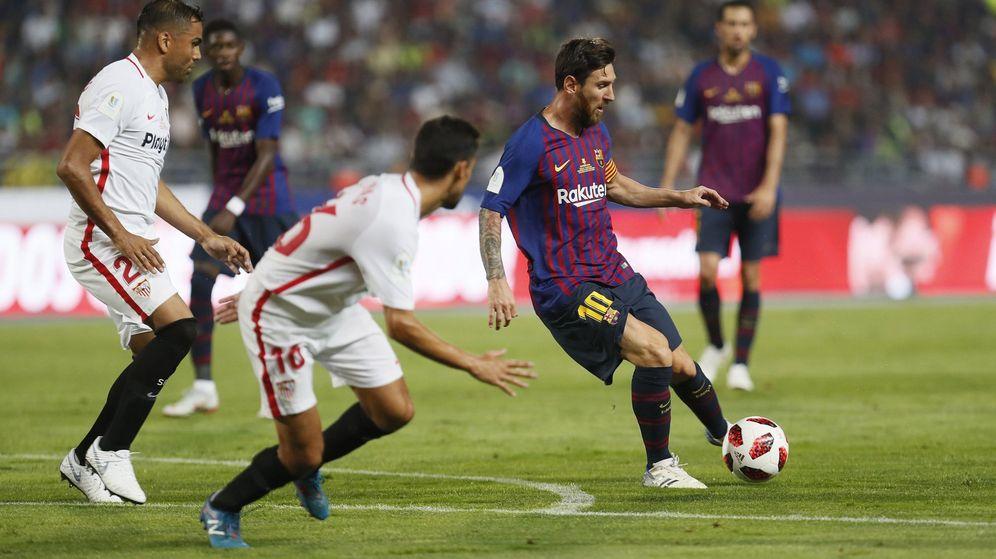 Foto: Leo Messi, durante la final de la Supercopa de España 2018. (EFE)