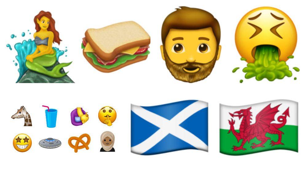 Foto: Algunos de los 'emojis' que podrían empezar a usarse a partir del 30 de junio de 2017 (Emojipedia)
