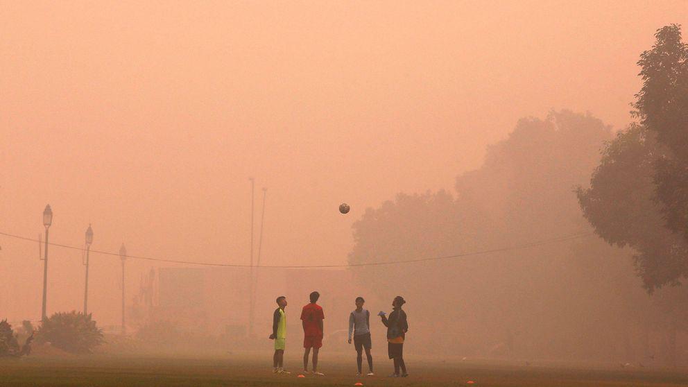 """El drama de hacer deporte en Nueva Delhi: """"Esto es como una cámara de gas"""""""