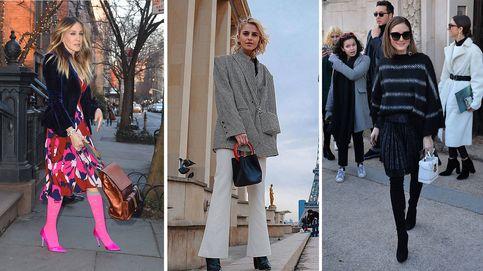 Tres famosas, tres looks y 15 bolsos que puedes copiar para esta primavera