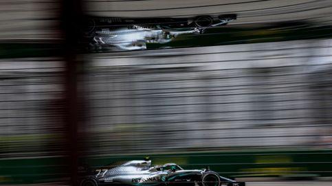 El piloto finlandés de Fórmula Uno Valterri Bottas, de la escudería Merecedes AMG