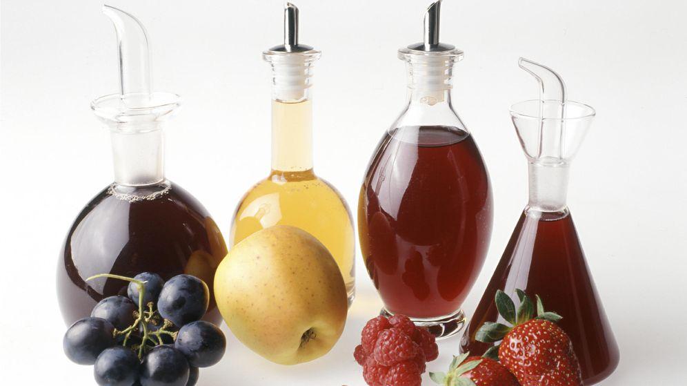 Foto: Cuatro tipos de vinagres caseros (Corbis)