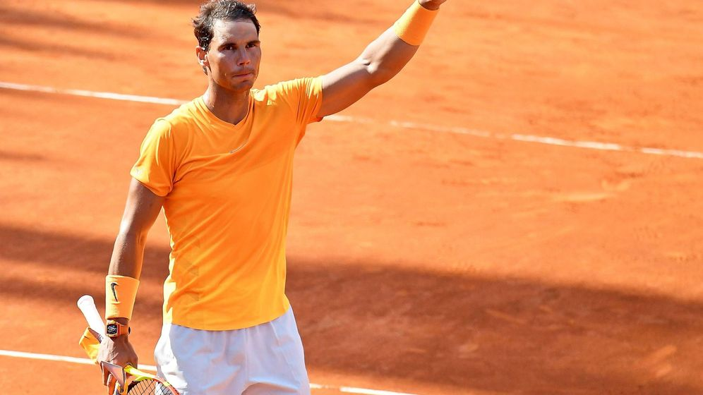 Foto: Nadal, tras su victoria contra Shapovalov. (EFE)