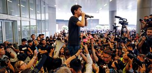 Post de La vuelta del joven  Joshua Wong, la pesadilla de China en la 'revoltosa' Hong Kong