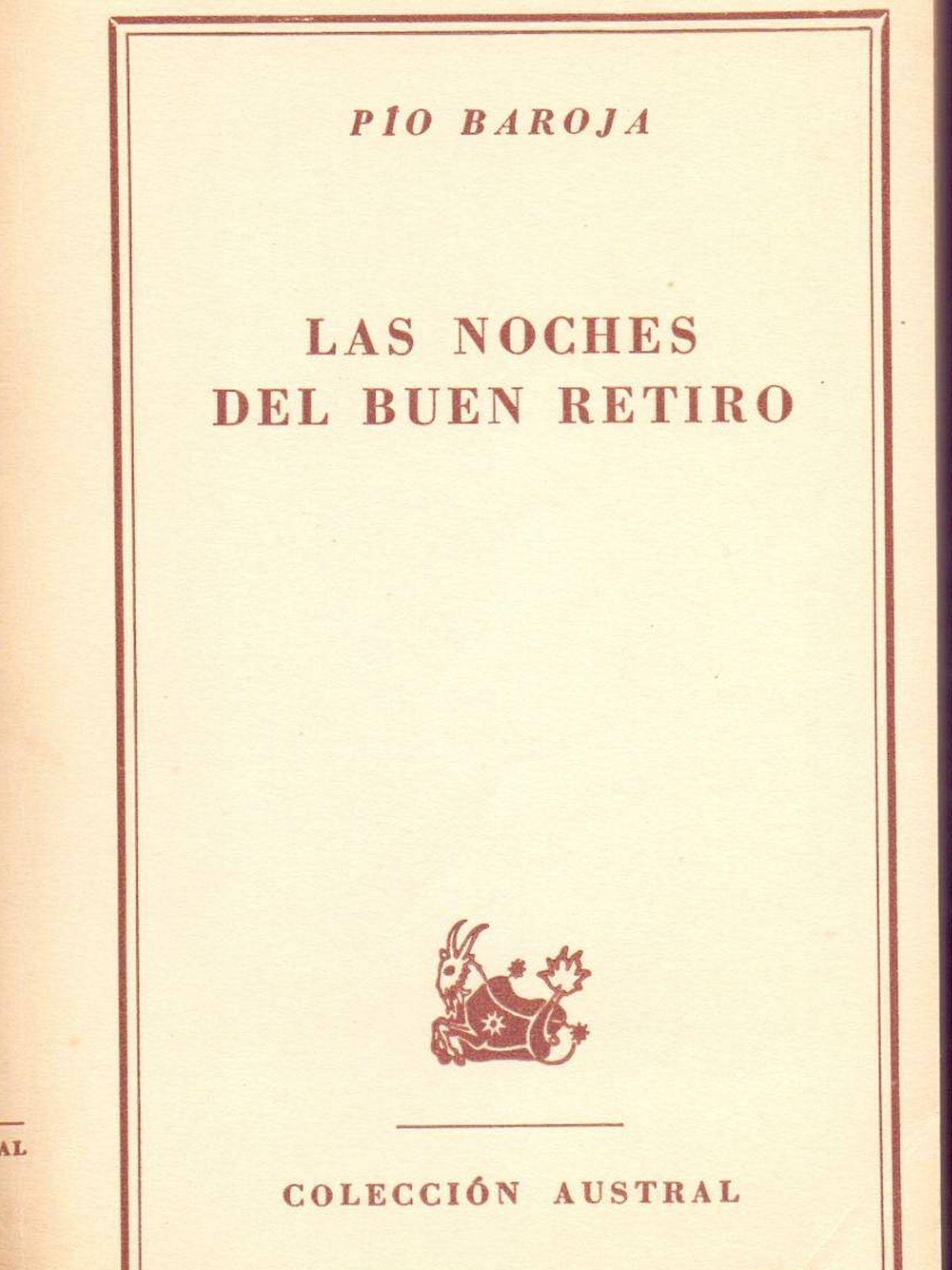 Portada de 'Las noches del Buen Retiro', de Pío Baroja, 1952. (Colecciones Austral)