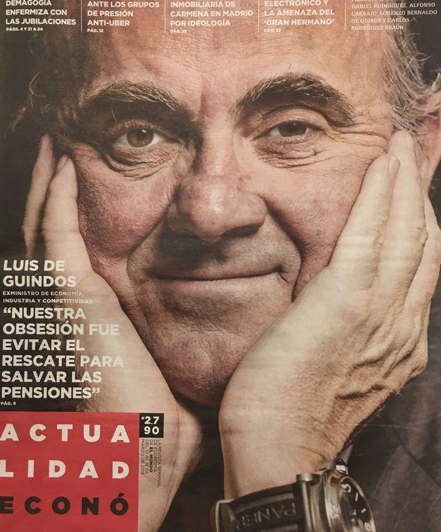 Foto: Luis de Guindos, en la portada de 'Actualidad Económica'.