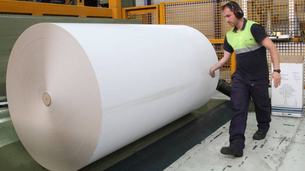 Foto: Fábrica de papel (Fotografía Europac)