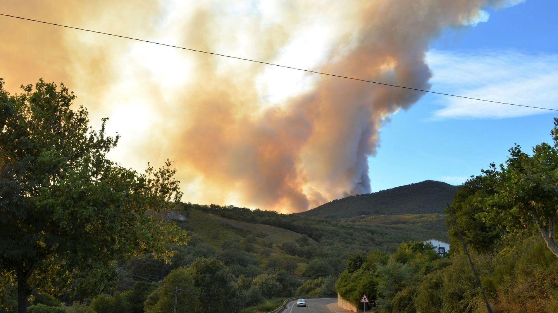 Columna de humo provocada por un incendio forestal. EFE
