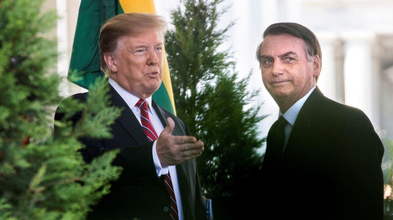 Trum recibe a Bolsonaro en la Casa Blanca. (Reuters)