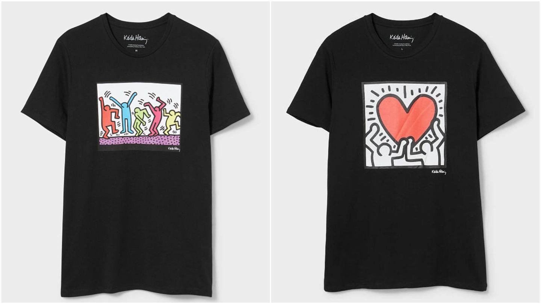 Las camisetas de CyA que recuperan los diseños de Keith Haring. (Cortesía)