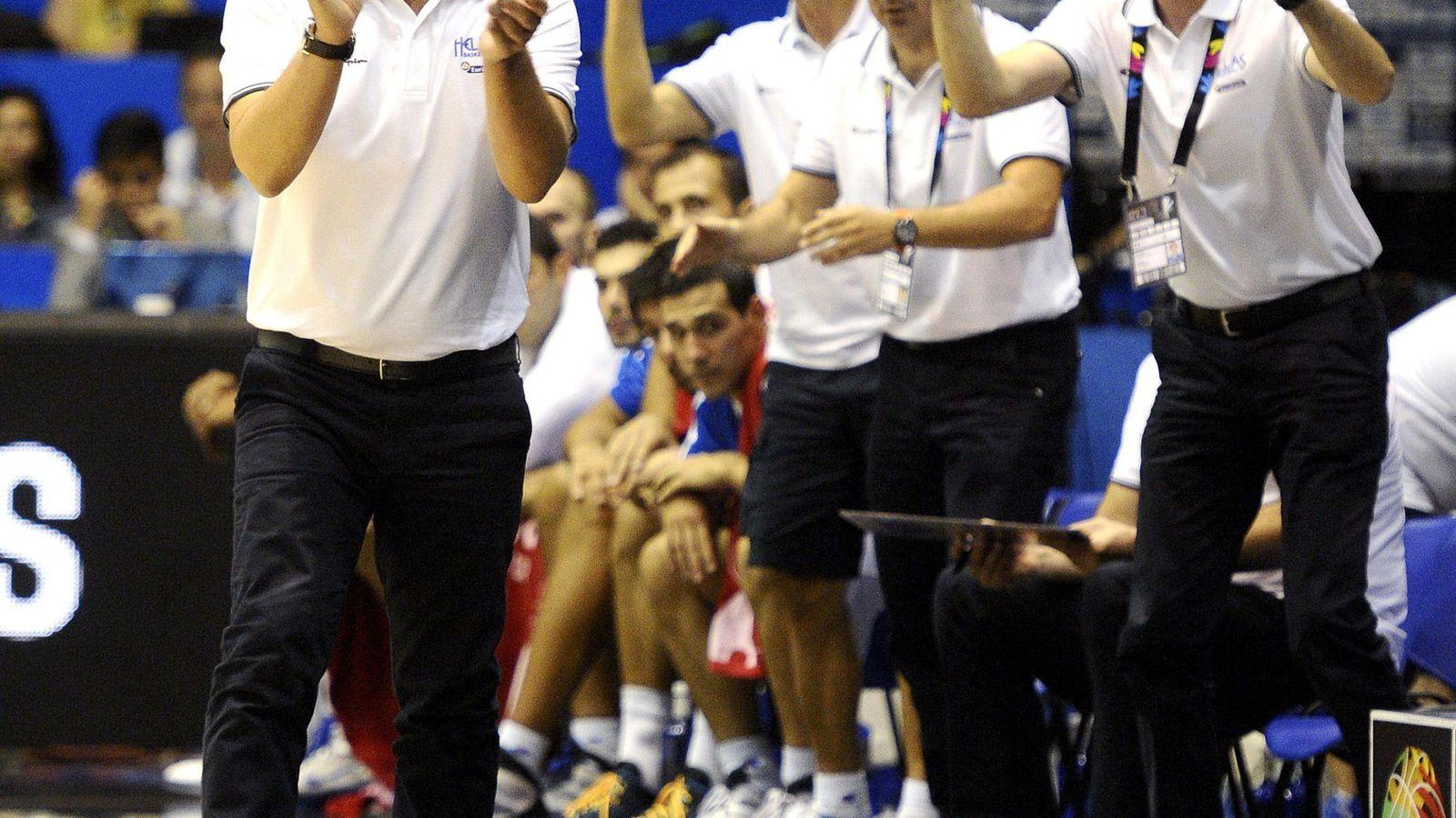 Foto: Grecia, con Katsikaris en el banquillo, cayó en los octavos de final de la pasada Copa del Mundo (Efe)