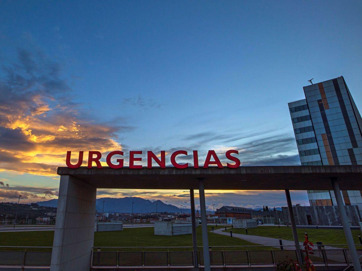 Foto: Entrada a Urgencias del Hospital Universitario Central de Asturias. (EFE)