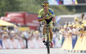 Majka, el ciclista que no quería correr el Tour, se luce en los Alpes