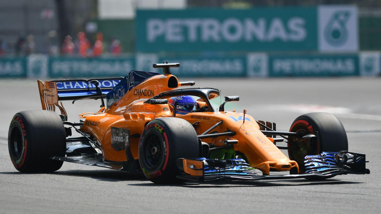 Foto: Alonso durante los entrenamientos del GP de México. (EFE)