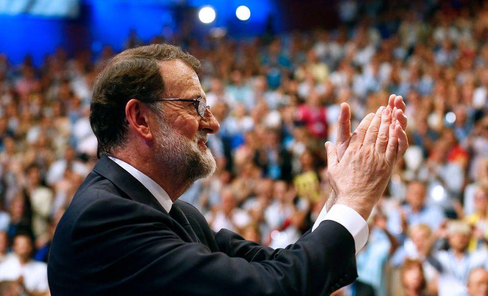 Foto: El presidente del Partido Popular, Mariano Rajoy, tras su intervención en el XIX Congreso Nacional del partido que se ha inaugurado este viernes. (EFE)