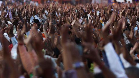 Celebración de Kumbh Mela en India