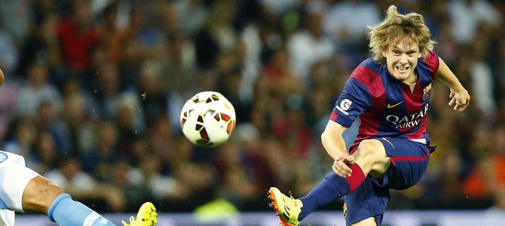 Foto: Alen Halilovic durante un partido amistoso con el Barcelona (Reuters).
