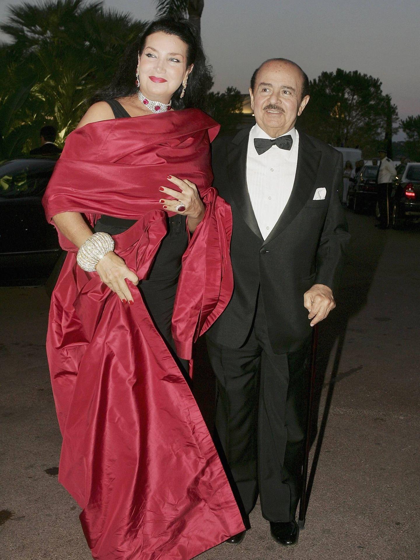 Adnan Khashoggi y Lamia, en Montecarlo. (Getty)