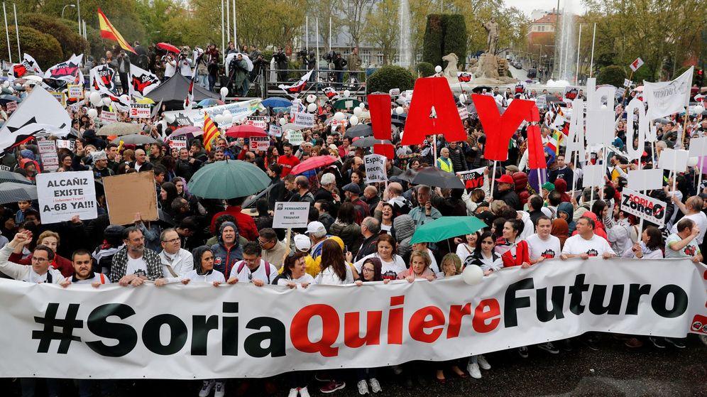 Foto: La manifestación de 'La revuelta de la España vaciada'. (EFE)
