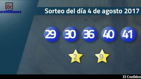 Resultados del sorteo del Euromillones del 4 de agosto de 2017: números 29, 30, 36, 40 y 41