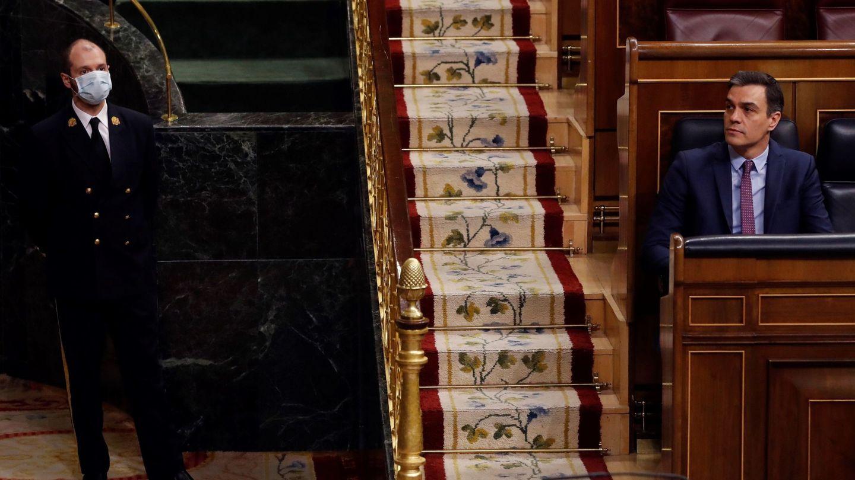 El presidente del Gobierno, Pedro Sánchez, en el Congreso. (EFE)