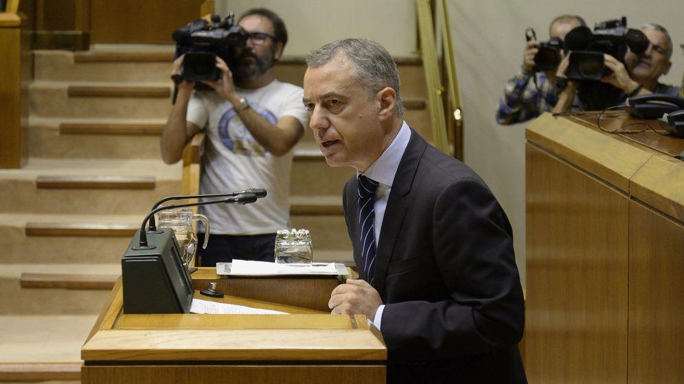Foto: Urkullu en una sesión de control en el Parlamento Vasco. (EFE)