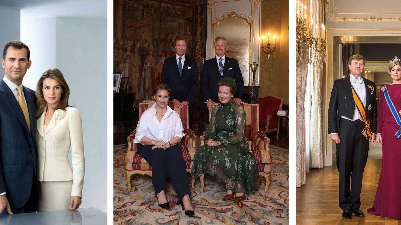 Los reyes Felipe y Letizia, los grandes duques con los reyes de Bélgica y Guillermo y Máxima de Holanda. (Casa Real / Corte Ducal de Luxemburgo / Casa Real de Holanda)